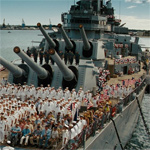 Battleship floats on an ocean of sentiment