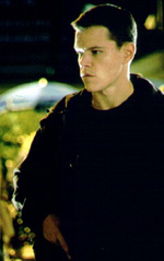 Damon wears The Bourne Identity