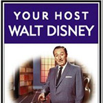 Walt Disney became a television personality as the host of Disney's own television show