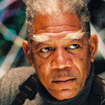 Morgan Freeman has X-men eyebrows in Dreamcatcher