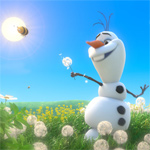The snowman who wants to see summer