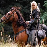 Geralt the White Wolf looks like an outsized version of Legolas