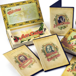 Packaging in the form of a Cuban cigar box delivers the set with much love