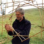 Goldsworthy sculpts a tapestry from reeds and thorns