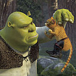 Shrek 2 introduces new characters, including a swashbuckling Puss-in-Boots