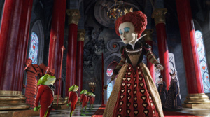 "The red queen's ""regrettably large head"""