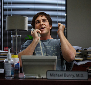 Michael Burry as portrayed by Christian Bale