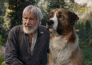 John (Harrison Ford) and Buck (CGI)