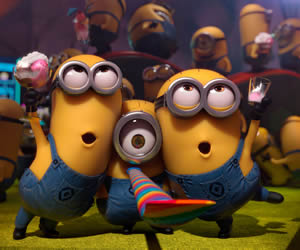 Minions whoop it up in 3D