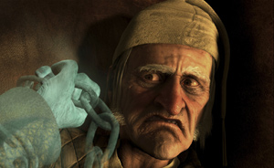 Scrooge occasionally looks like Jim Carrey