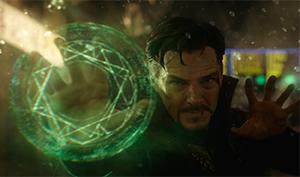 Doctor Strange casts a spell.