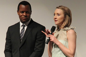 Geoffrey Fletcher and Saoirse Ronan at the Toronto International Film Festival