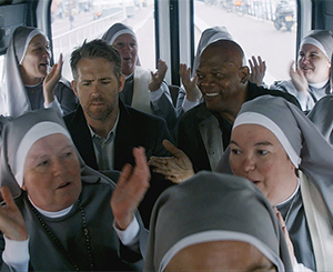 A bodyguard, a contract killer and a group of nuns get on a bus...