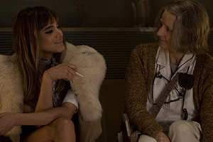 Nice (Sofia Boutella) talks shop with the nurse (Jodie Foster)