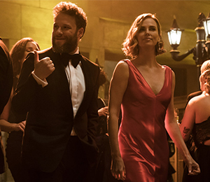 Seth Rogen and Charlize Theron? That's a long shot.