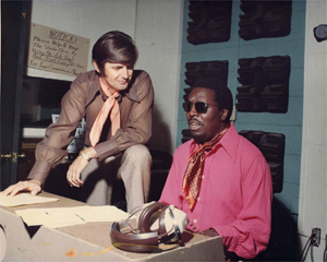 Rick Hall works with Clarence Carter