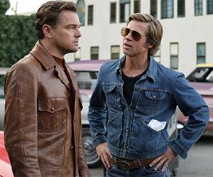 Rick Dalton (Leonardo DiCaprio) with his stunt double, Cliff Booth (Brad Pitt)