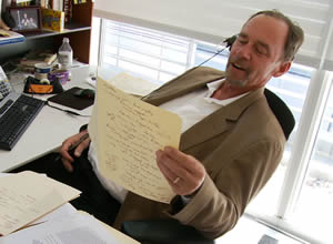 David Carr at work