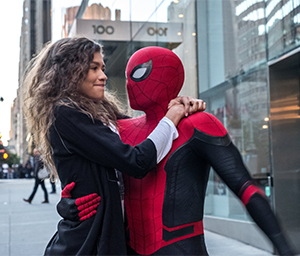 MJ (Zendaya) with Spider-Man (Peter Parker)
