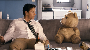 Wahlberg (left) grows up with Ted