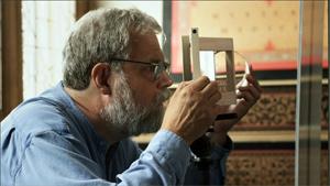 Tim works on his Vermeer