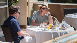 Brydon and Coogan work in Italy