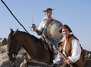 Coogan and Brydon: Striking a pose as Don Quixote and Pancho Sanza