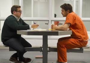 Jonah Hill (left) and James Franco as Michael Finkel and Christian Longo