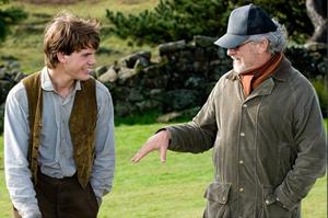 Jeremy Irvine with Steven Spielberg