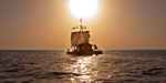 The Kon-Tiki sails into the West